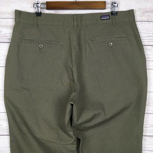 Patagonia Mens Green Cotton Pants 36×30 Khakis